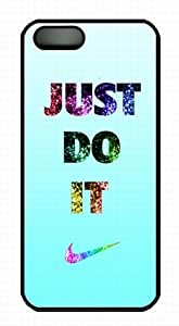nike logo just do it Black PC Case/Cover for iPhone 5 and 5S, diy just do it nike iphone 5s by Popcustom