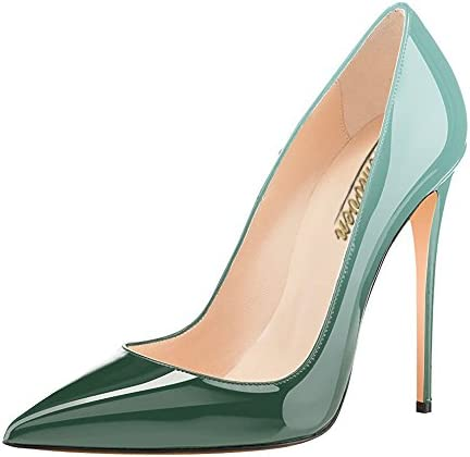 d992d2a5e8 Modemoven Women's Pointy Toe High Heels Slip On Stilettos Large Size  Wedding Party Evening Pumps Shoes