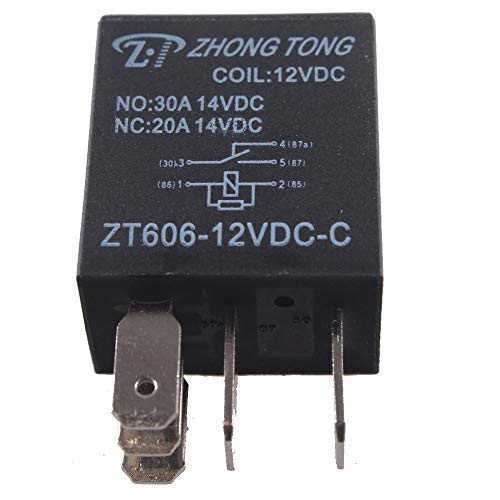 DDV-US EE Support 5 Pcs Car Electronics 12V 20A/30A SPDT Relay for Fuel Pump Horn Kit 5P 5 Pins Auto Relays Diagnostic-Tool - 30a Pump Fuel