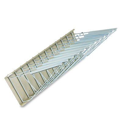 Sheet File Pivot Wall Rack, 12 Hanging Clamps, 24w x 14-3/4d x 9-3/4h, Sand by Safco Products