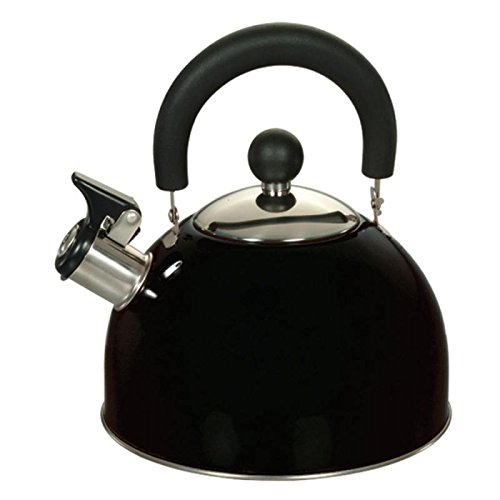 Euro-Ware 309-BK Stainless Steel Whistling Tea/Hot Water Ket