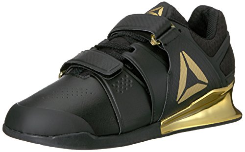 Reebok Men's Legacy Lifter Cross-Trainer Shoe, Black/Gold, 12 M US