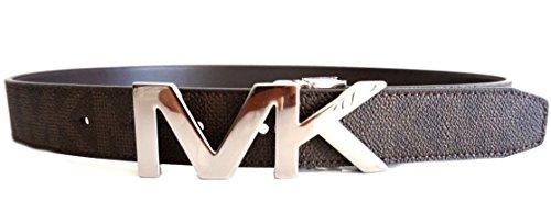 Michael Kors Mens Reversible MK Logo Brown Belt (Michael Kors Mens Belt)