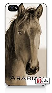 Premium Direct Print Striking Arabian Horse Image iphone 6 Quality Hard Snap On Case for iphone 6/Apple iphone 6 - AT&T Sprint Verizon - White Case PLUS Bonus RCGRafix The Best Iphone Business Productivity Apps Review Guide