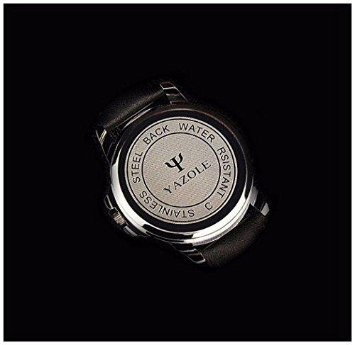 LinTimes-Fashion-Elegant-Mens-Watch-Quartz-Analog-Business-Leisure-Wristwatch-Brown-Band-White-Dial