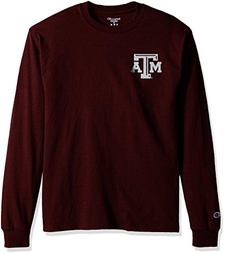 NCAA Texas A&M Aggies Men's Champ Long sleeve Tee 1, X-Large, (Aggies Long Sleeve)