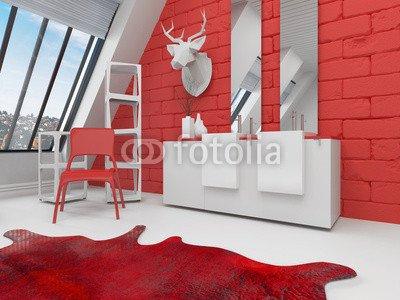 Moderno Bagno Con Rosso E Bianco Bagno Arredamento 65729915