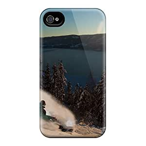 Customized iphone 5C PC Transparent Case - White Trees Against A Blue Sky Personalized Cover