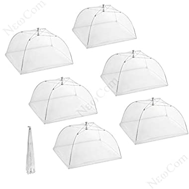 Newcom Large Pop Up Mesh Screen Food Cover Tents,16 Inch, 6 Pack