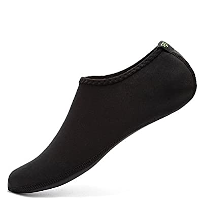 CIOR Water Skin Shoes Aauq Socks With New Upgraded Durable Outsole, XXXL: US Women: 12-13 Men: 11-12, Black