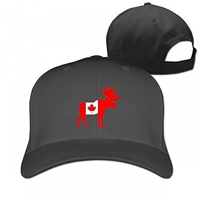 GoNewBee Canada Flag Moose Casquette Cotton Baseball Cap Hat Plain Low Profile