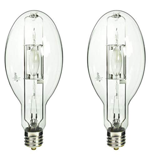 (2 Pack) GE CMH400/V/PA/O 400 Watt ED37 Pulse Start Ceramic Metal Halide Lamp 400W Exclusionary Mogul EX39 Base MP400 Clear Bulb - ANSI M155 Replaces MP400/BU/PS MP400/BU MP400/ED37/PS/BU - Metal Halide Lamp Ed37
