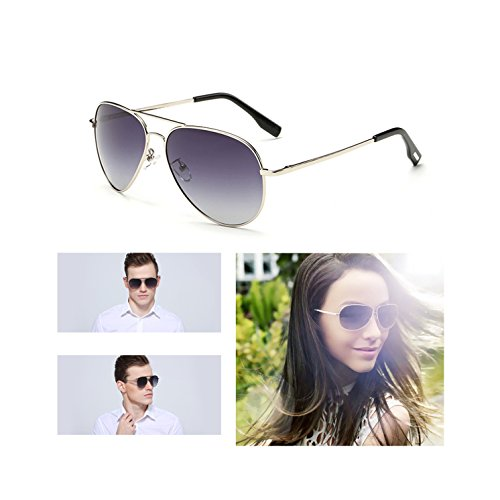 Aviator Sunglasses Gifts for Men Woman Fashion Sports Wife Girl Boy Gift Military Polarized Full Mirrored Flash Lens Uv 400 rays (Gray whiteframe/Purple mirror lens, - Polarized Zonnebril
