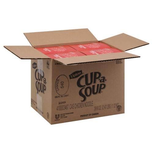 Noodles Case (Lipton Cup-a-Soup Instant Chicken Noodle Soup - 22 envelopes per box, 4 boxes per case)