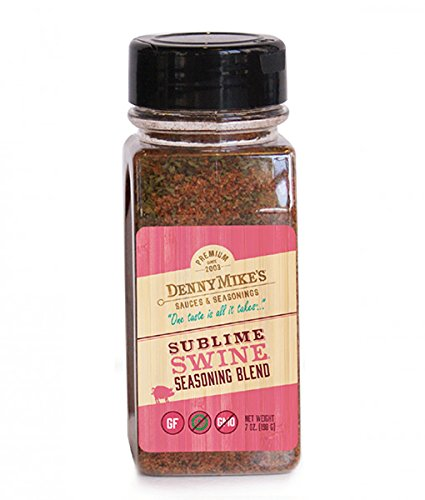 Pork Spice Rub - Sublime Swine Premium Seasoning Blend - 7oz Shaker - Gluten Free - Take your pork dishes to a Whole Nutha Level (Whole Pork)