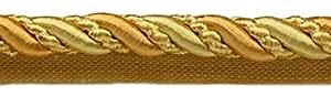 Pack de Cordón para Labios Noblesse Collection de Color Dorado y Dorado DE 45,72 cm y 45,72 cm (25 Metros).