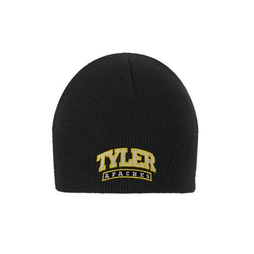 Tyler Junior College Black Knit Beanie 'Tyler Apaches Arched' (Beanie Tyler)