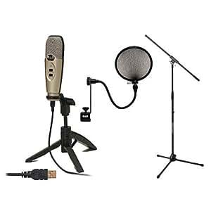 cad u37 condenser usb mic 10 39 cable 2 stands filter musical instruments. Black Bedroom Furniture Sets. Home Design Ideas
