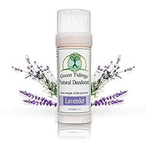 Green Tidings Natural Deodorant - Lavender 2.7ozExtra Strength, All Day Protection - Vegan - Cruelty-Free - Aluminum Free - Paraben Free - Non-Toxic - Organic - Gluten-Free - Made in USA