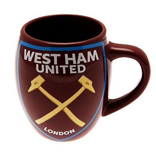 West Ham FC Official Ceramic Football/Soccer Crest Tea Mug (One Size) (Claret)