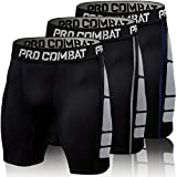 ZMCX Men's Compression Shorts 3 Pack Quick Dry Sports Tight Shorts Soft Running Pants for Workouts,...
