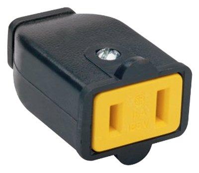Pass & Seymour Polarized Connector 15 Amp Ul 16 Awg Blk Bulk ()