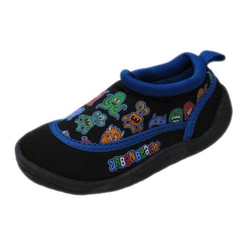 Urban Beach Kids–Little Monsters Aqua–Zapatillas, color negro, azul, lila o rosa azul y negro
