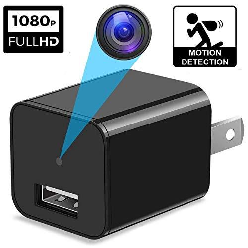(Spy Camera - Hidden Camera - Surveillance Camera - HD 1080P - Mini Spy Camera - Spy Cam - USB Hidden Camera - Nanny Camera - Best Spy Camera Charger)