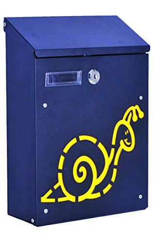 Nero Blinky 27298-10 Lumaca Cassetta per Lettere in Acciaio 21x8.5x30