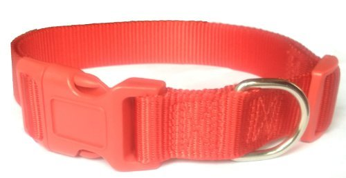 Holiday Pet Dog Collars and Leashes for Large Big Dogs Basic Dog Collar 3/4-Inch,Large(L) Size, Red