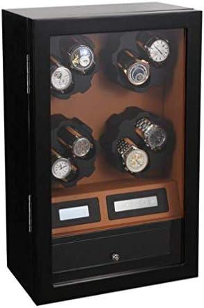 8 + 5木製8速調整時計ワインダー、自動回転巻き電気時計ワインダーボックス回転揺れ装置、良い贈り物