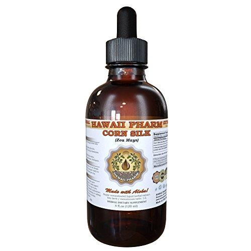 Corn Silk Liquid Extract, Organic Corn Silk (Zea Mays) Tincture 4 oz by HawaiiPharm ()