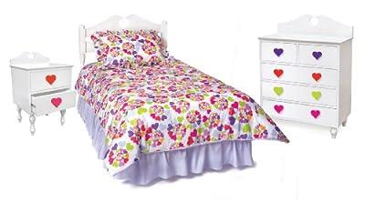 Room Magic Heart Throb Bedroom Set, White from Room Magic