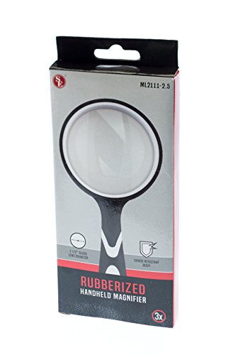 SE ML2111-2.5 2.5-Inch Handheld Magnifier with 3X Magnification (9 Diopter), Rubberized Body by SE (Image #4)