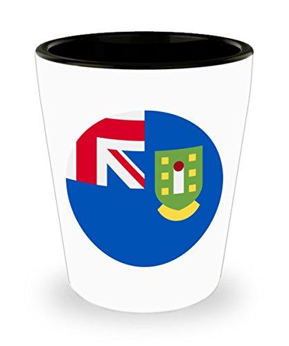 British Virgin Islands Territory Flag White Ceramic Shot Glass