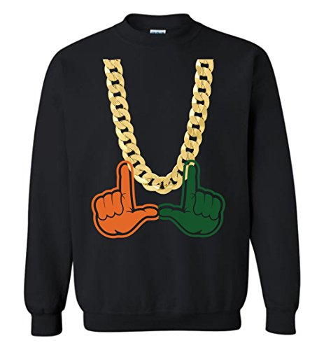 Miami Florida Turnover Chain U Hands Crewneck Sweatshirt