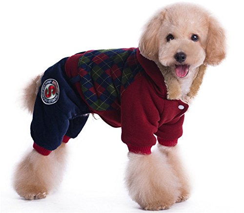 YAAGLE Winter Warm British College Thick Pet Coat Dog Clothes Hoodie Coat Apparel (Marilyn Monroe Dog Costumes)