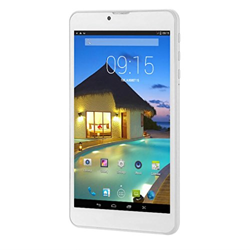 Tablet PC, 7'' Tablet Android 5.0 Quad Core HD, Dual SIM Camera Blue-Tooth Wi-Fi, 3D Game Supported (Gold) by Hometom (Image #3)