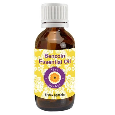 Deve Herbes Pure Benzoin Essential Oil (Styrax Benzoin) 100% Natural Therapeutic Grade Steam Distilled (100ml (3.38oz))