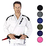 Elite Sports New Item IBJJF Ultra Light BJJ Brazilian Jiu Jitsu Gi w/Preshrunk Fabric & Free Belt (White, A1)