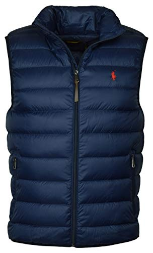 Polo Ralph Lauren Mens Full Zip Puffer Vest (Medium, Aviator Navy)