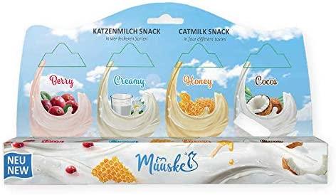 Muuske Snacks de Leche Natural y sin Lactosa para Gatos, 2 ...
