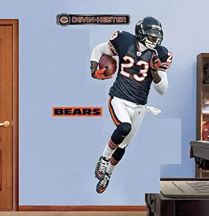 6a1d6a4a Amazon.com: FATHEAD Devin Hester Graphic Chicago Bears Official NFL ...