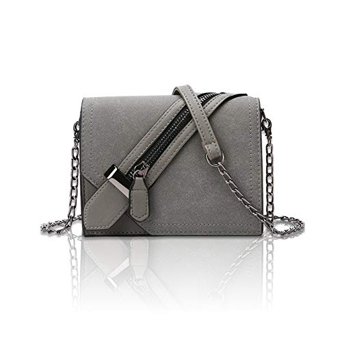 - Fashion Exquisite Women Bag Vintage Messenger Bag Shoulder Bag Simple Crossbody Bag,Gray