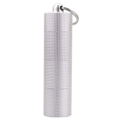 ink2055 Portable 3-Grid Waterproof Mini Pill Case Box Bottle Outdoor Emergency Gear Handbag Bag Purse Pendant - Silver