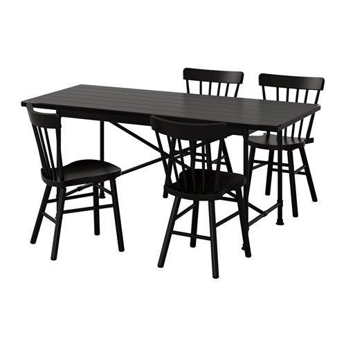 Amazon.com: IKEA mesa y 4 sillas, negro, negro 8204.20517 ...