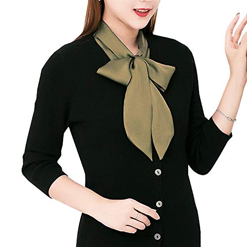 OCEAN.YY Women's Bow Shirt Detachable Fake Collar Collar Blouse (FC01-Blue)