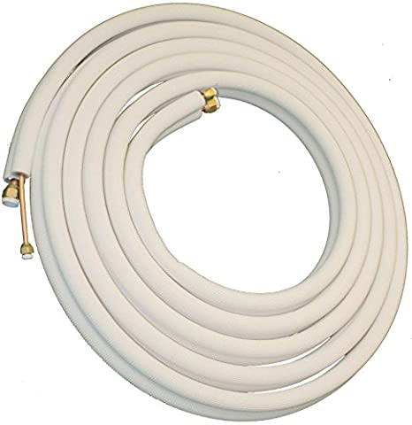 Insulated Copper Lineset - Flared with Unions - 1/4
