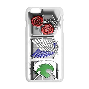 Cool Painting Attack On Titan Design Fashion Comstom Plastic case cover For Iphone 6 Plus