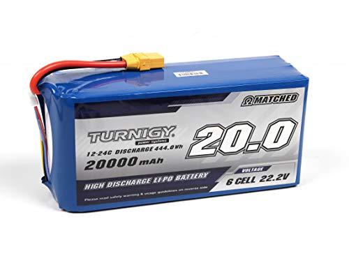 Turnigy High Capacity 6S 20000mAh 12C Multi-Rotor LiPo Battery Pack w/XT90